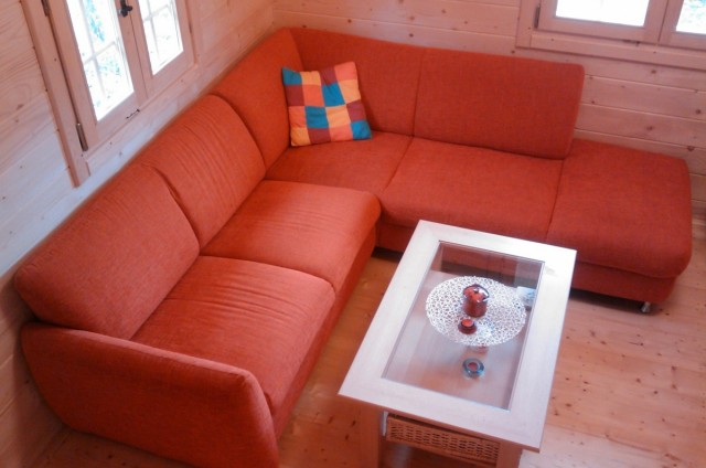 Interiéry srubových domů
