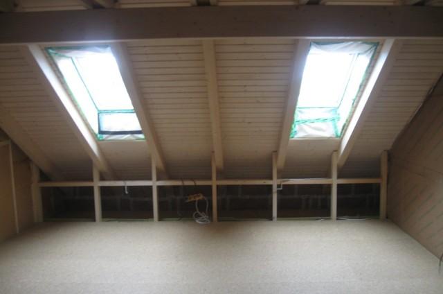 Podkroví srubového domu