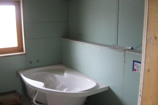 Koupelna srubového domu