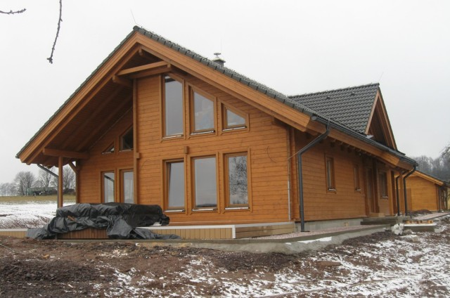 Terasa srubového domu