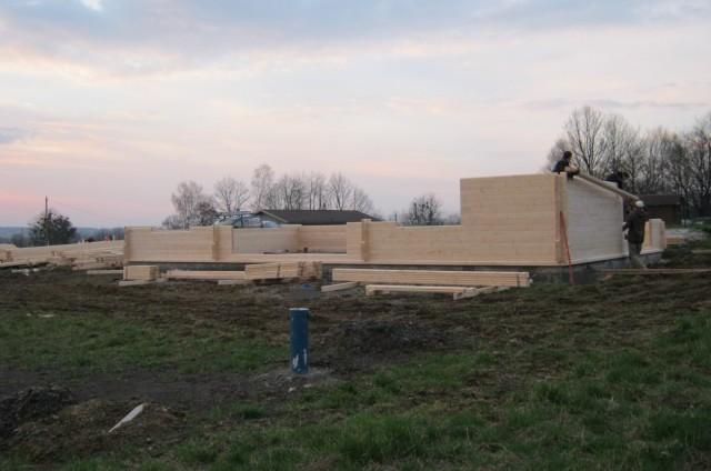 Přízemní srubový dům s terasou Třinec