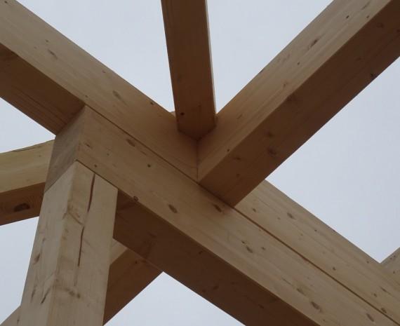 Detail krovu srubu