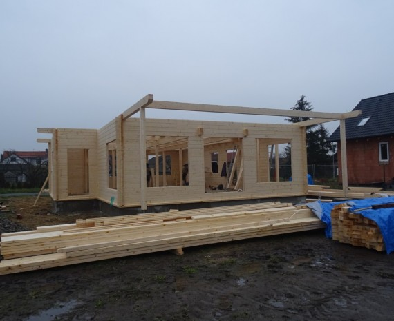 Průběh stavby srubového domu