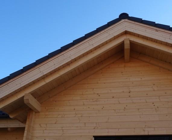 Detail srubového domu