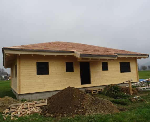 Zateplení střechy dřevostavby