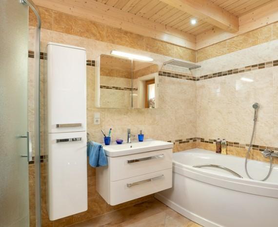 Srubový dům a koupelna