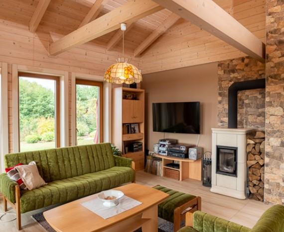 Obývací pokoj srubu
