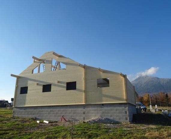 Srub a stavba krovu