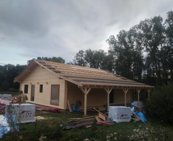 Zateplování střechy srubu