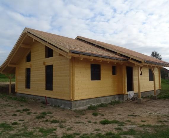Přízemní srubový dům