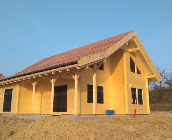 Zateplená střecha srubu