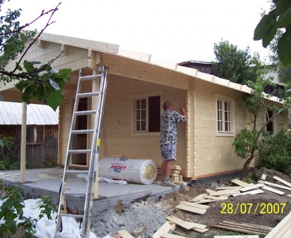 Průběh výstavby víkendového srubu Lipník nad Bečvou